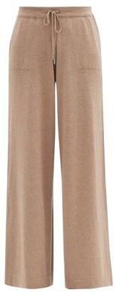 Johnstons of Elgin Marla Elasticated-waist Wool Wide-leg Trousers - Dark Beige