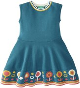 Little Green Radicals Flower Knitted Dress (Baby) - Biscan Bay-3-6 Months