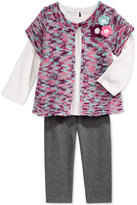 First Impressions Baby Girls' 3-Pc. Shrug, Long-Sleeve T-Shirt & Leggings Set, Only at Macy's
