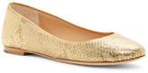Diane von Furstenberg Printed Gold Python Leather Cambridge Flat