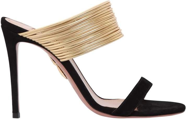 Aquazzura 105mm Rendez Vous Suede Sandals