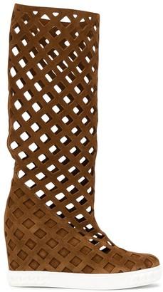 Casadei Lady Web mid-calf boots