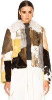 Proenza Schouler Rabbit Patchwork Fur Jacket