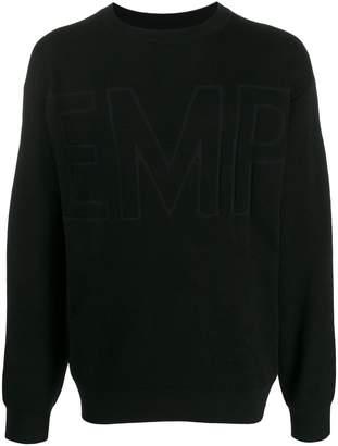 Emporio Armani jacquard logo crew-neck jumper