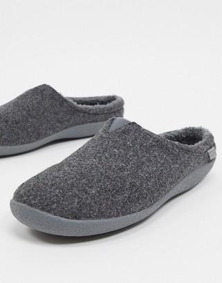 Toms berkley vegan-friendly slippers in grey