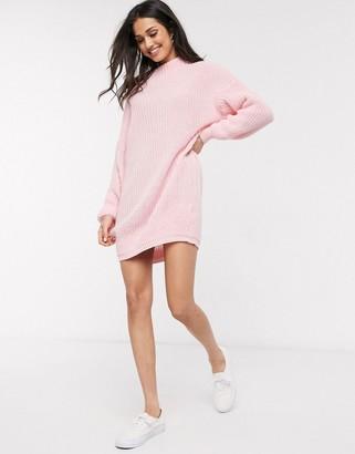 Daisy Street oversized sweater dress with high neck