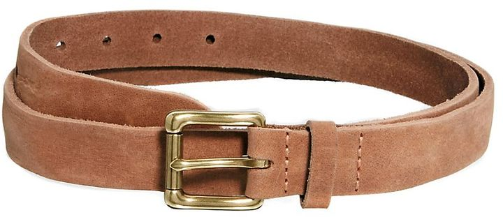 Asos Distressed Leather Chino Belt