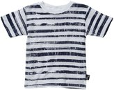Charlie Rocket Stripe Tee (Toddler/Kid) - White-4T