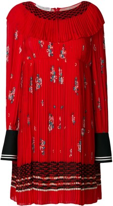 Philosophy di Lorenzo Serafini zigzag embroidered pleated dress