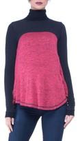 Olian Women's Paola Colorblock Turtleneck Maternity Top