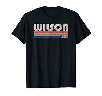 Wilson Trendy Retro 70's 80's Style Clothing Vintage 70s 80s Style NC T-Shirt