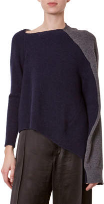 Loewe Colorblock Asymmetric Sweater