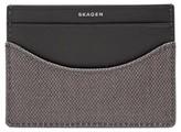 Skagen Men's Coated Twill Card Case - Grey