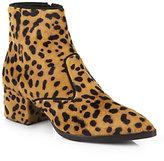 Miu Miu Animal-Print Calf Hair Chelsea Boots
