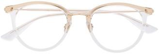 Christian Dior Line 3F round-frame glasses