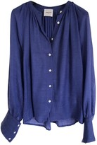 Laurence Dolige Blue Wool Top for Women