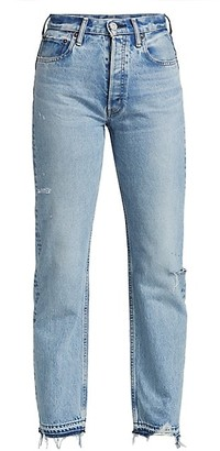 Moussy Brookline Mid-Rise Wide Straight Jeans