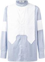 Ports 1961 mandarin neck contrast shirt - men - Cotton - 38