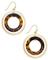 Kate Spade Out Of Her Shell Gold-Tone Tortoiseshell-Look Orbital Earrings