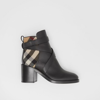 Burberry Vintage Check and Leather Ankle Boots