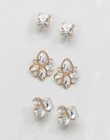 Aldo Gem Cluster Multpack Earrings