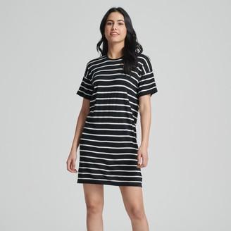 Naadam Striped Summer Silk Everyday Shirt Dress