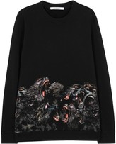 Givenchy Black Monkey-print Cotton Sweatshirt