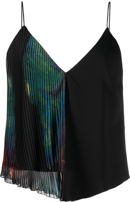 Just Cavalli Panelled Sleeveless Blouse