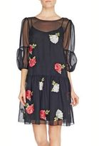 Blugirl Chiffon Dresses Embroidery Rose