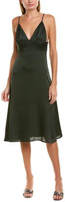 City Sleek V-Neck Midi Dress