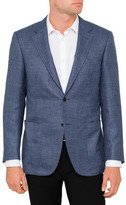 Canali Wool Mix Houndstooth Jacket