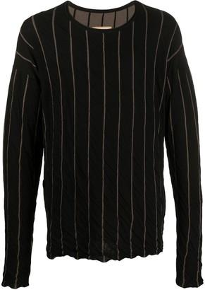 UMA WANG Knitted Striped Pattern Jumper