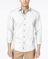 Michael Kors Men's Tailored-Fit Poplin Long-Sleeve Shirt