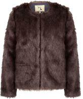 Yumi Fluffy Faux Fur Jacket