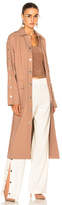 Tibi Trench Coat in Neutrals,Pink.