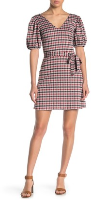 Love...Ady Puffy Sleeve Plaid Patterned Dress