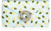 Wilbur & Gussie Charlie Blue Pineapple Silk Clutch Bag