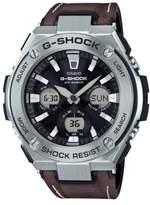 Men's G-Shock G-Steel Solar Leather Strap Watch, 59Mm