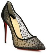 Christian Louboutin Follies Lace Point-Toe Pumps