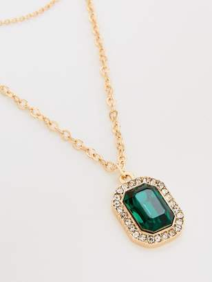 Very Chain And Emerald Multi Pack Chokers - Gold