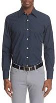 Canali Men's Trim Fit Micro Paisley Sport Shirt