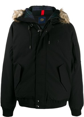 Polo Ralph Lauren Fur-Hood Feather Down Jacket