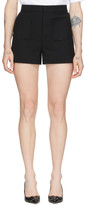 RED Valentino Black Cady Front Pockets Shorts