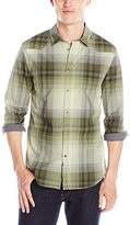 Calvin Klein Jeans Men's Ombre Plaid Shirt