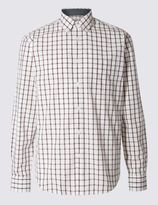 Marks and Spencer Long Sleeve Pure Cotton Checked Shirt