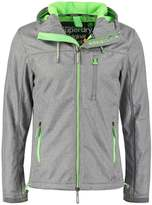 Superdry Outdoor Jacket Light Grey Marl/fluro Lime