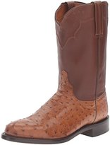 Lucchese Classics Men's Coleman-Tan Burn F.Q. Ost / Tan Ranch Riding Boot