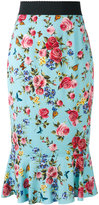Dolce & Gabbana floral trumpet hem skirt - women - Silk/Spandex/Elastane - 42