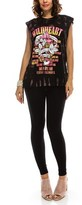 B-Sharp Collection Vintage Graphic Wildheart Print Black Tank Top Sleeveless Muscle Top.
