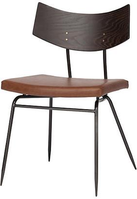One Kings Lane Luna Side Chair - Caramel Leather